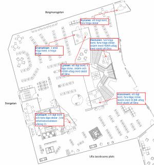 Karta över grupprummen - liten bild