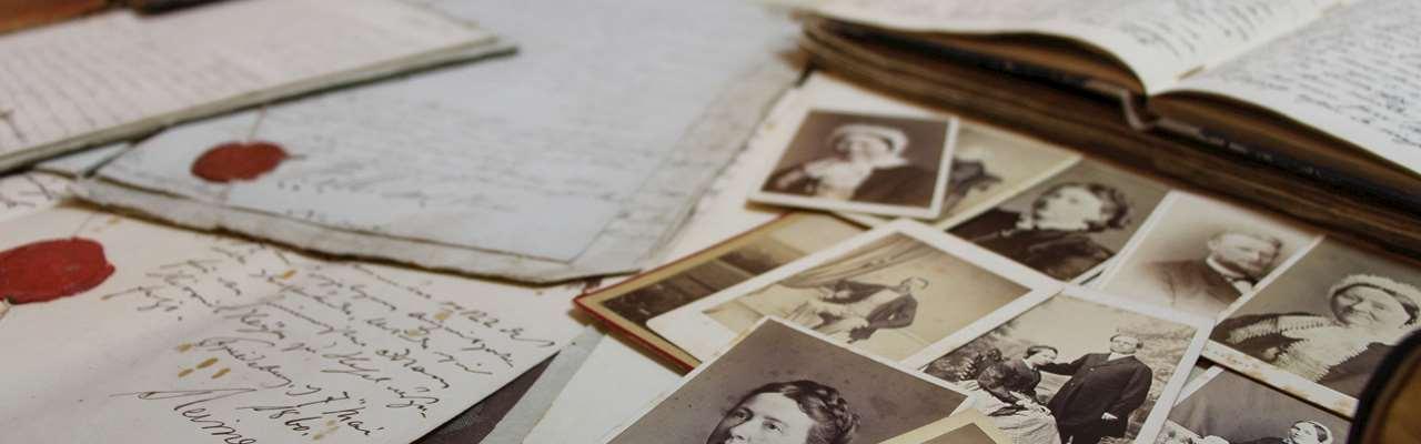 Gamla foton och brev