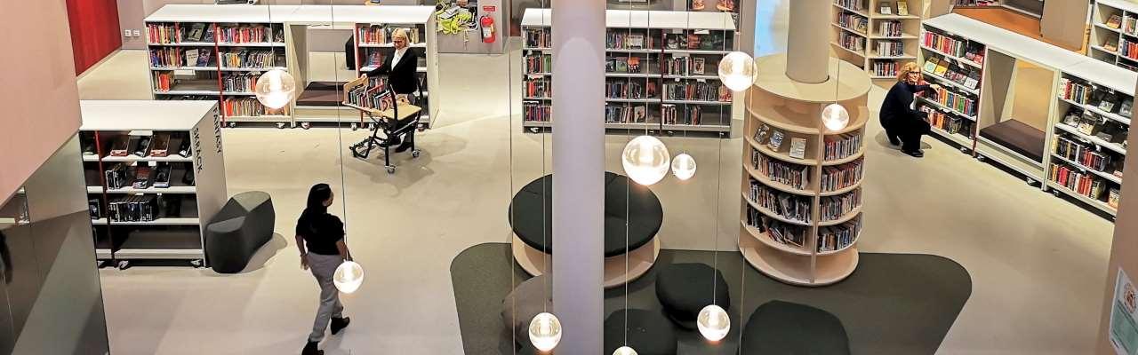 Mölndals stadsbiblioteks bottenvåning