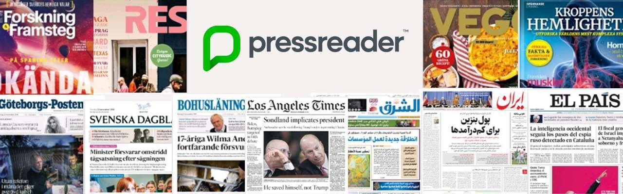 Bild på olika tidningsomslag