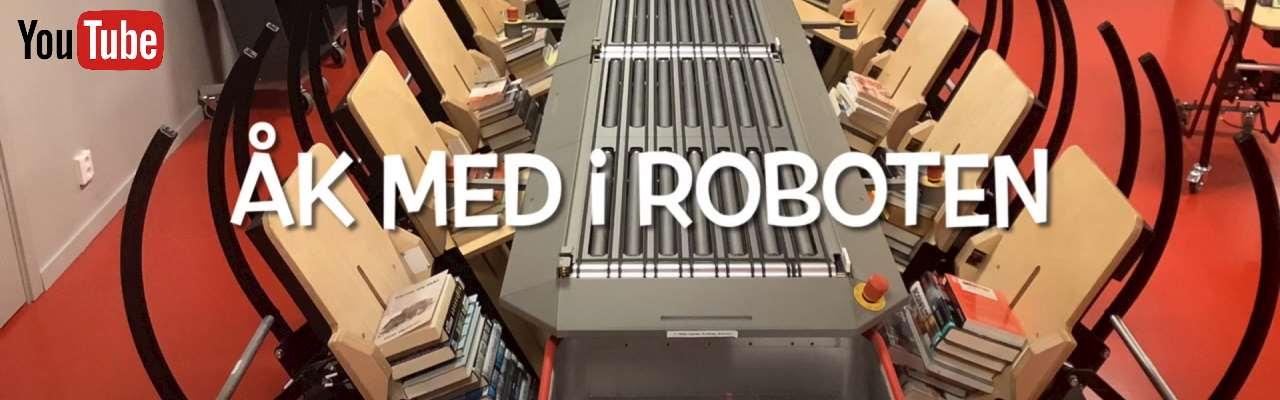 Film på Youtube där du kan se hur det är för en bok att åka i sorteringsroboten